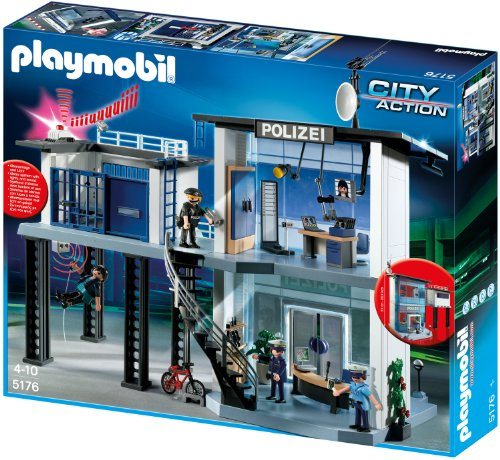 PLAYMOBIL 5176 - Polizei-Kommandostation mit Alarmanlage