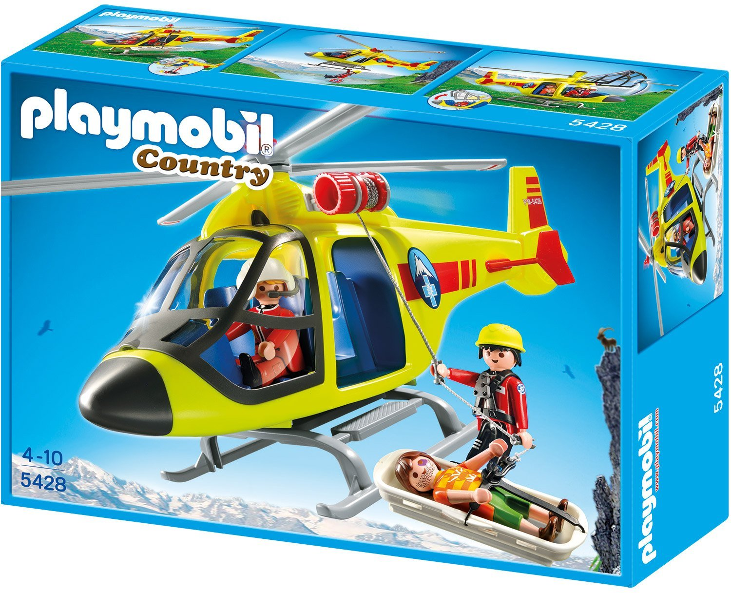PLAYMOBIL Helicopter der Bergrettung
